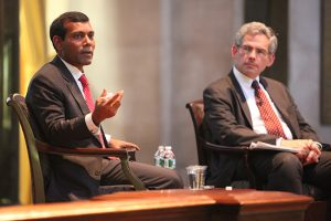 Former President Nasheed and Michael Gerrard