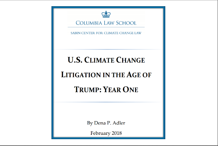 U.S. Climate Change Litigation in the Age of Trump