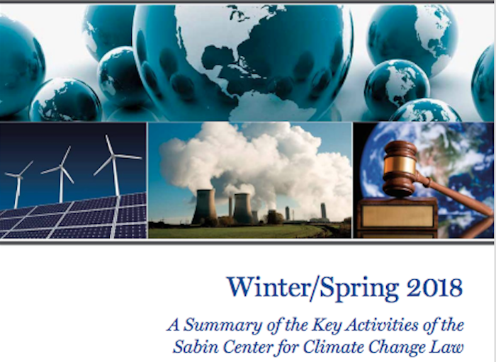 Sabin Center Semi-Annual Report (Winter/Spring 2018)