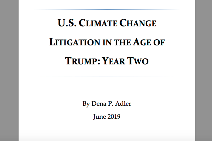 U.S. Climate Change Litigation in the Age of Trump: Year Two