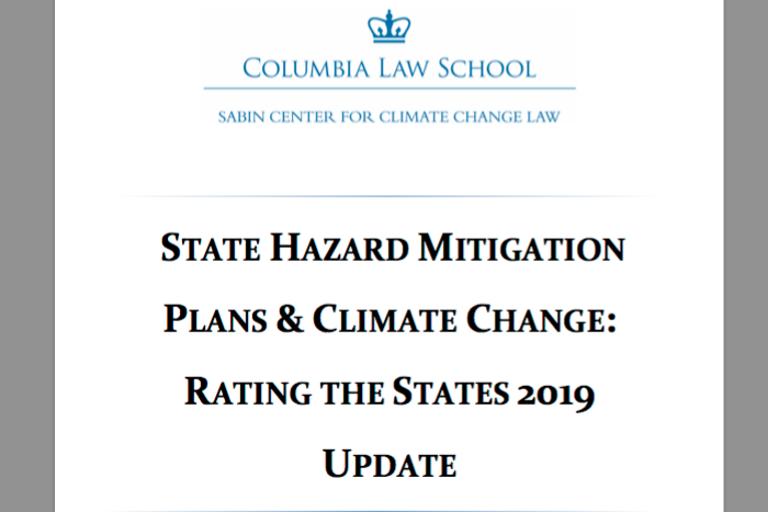 State Hazard Mitigation Plans & Climate Change: Rating the States 2019 Update
